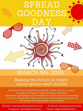 Spread Goodness Day Poster